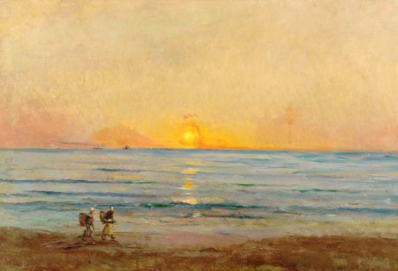Sunset near Villerville (c. 1876), Charles François Daubigny
