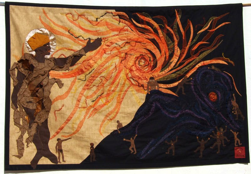 The Creation of the Sun (2015), Jeni Couzyn (artistic director), Sandra Sweers (lead artist), a collaborative piece from Bethesda Arts Centre. Photo © The Trustees of the British Museum