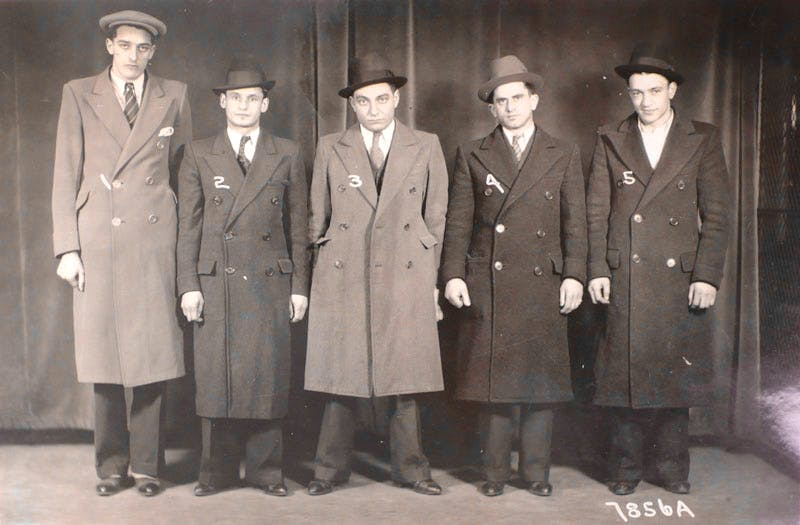 One of a pair of American Police Identity line-up photographs, 1/5/1933 (with and without hats). Unknown Photographer. Courtesy Michael Hoppen Gallery