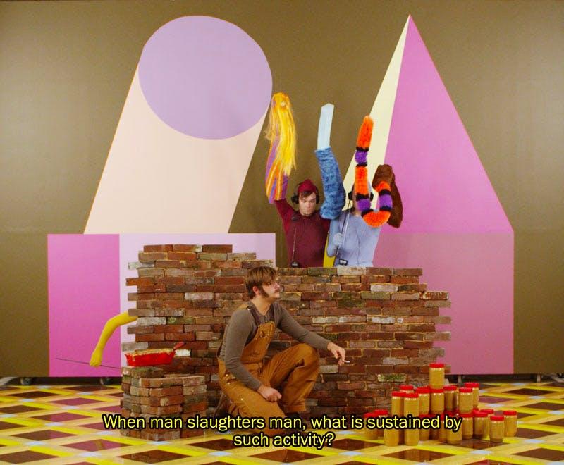 Easternsports (film still; 2014), Alex Da Corte with Jayson Musson. Collection of the artists; courtesy David Risley Gallery, Copenhagen, and Salon 94, New York. © Alex Da Corte; image courtesy the artist
