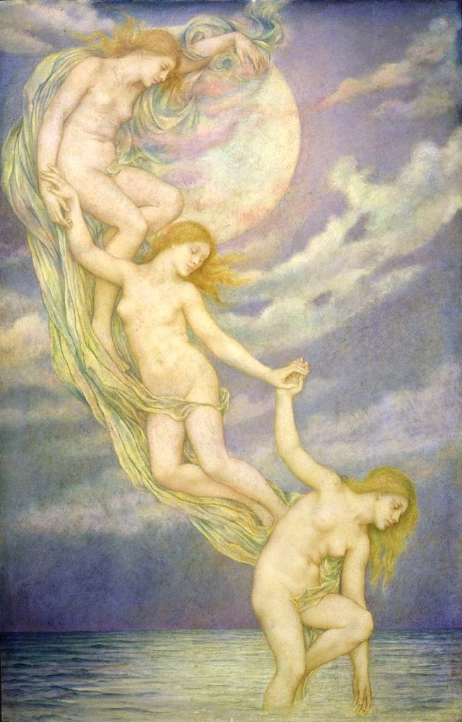 Moonbeams Dipping Into The Sea (1900), Evelyn de Morgan. Courtesy The De Morgan Foundation