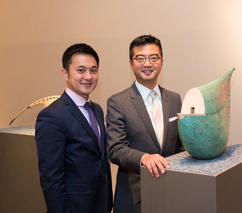 Fine Art Asia fair directors: Calvin Hui (left) and Andy Hei (right).