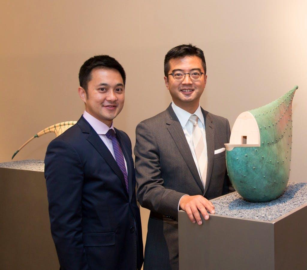 Fine Art Asia fair directors: Calvin Hui (left) and Andy Hei (right).