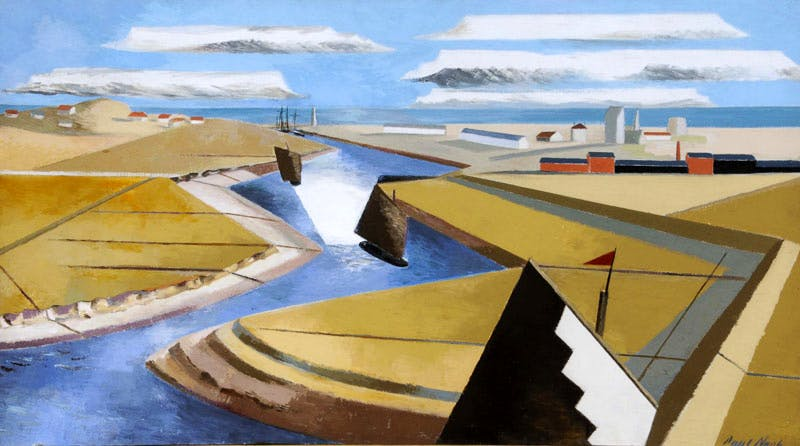 The Rye Marshes (1932), Paul Nash. Ferens Art Gallery. © Tate