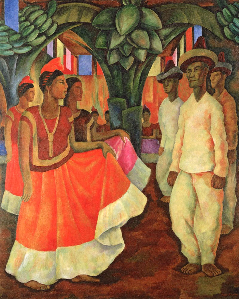 Dance in Tehuantepec (1928), Diego Rivera. © Banco de México Diego Rivera Frida Kahlo Museums Trust, Mexico, D.F./Artists Rights Society (ARS), New York