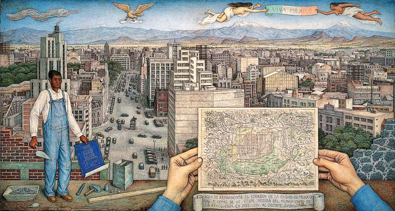 Mexico City (1949), Juan O'Gorman. © Juan O'Gorman/Artists Rights Society (ARS), New York/SOMAAP, Mexico City