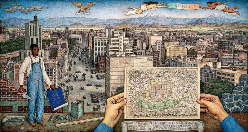 Mexico City (1949), Juan O'Gorman. © Juan O'Gorman/Artists Rights Society (ARS), New York/SOMAAP, Mexico City