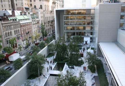 The courtyard of New York's Museum of Modern Art.