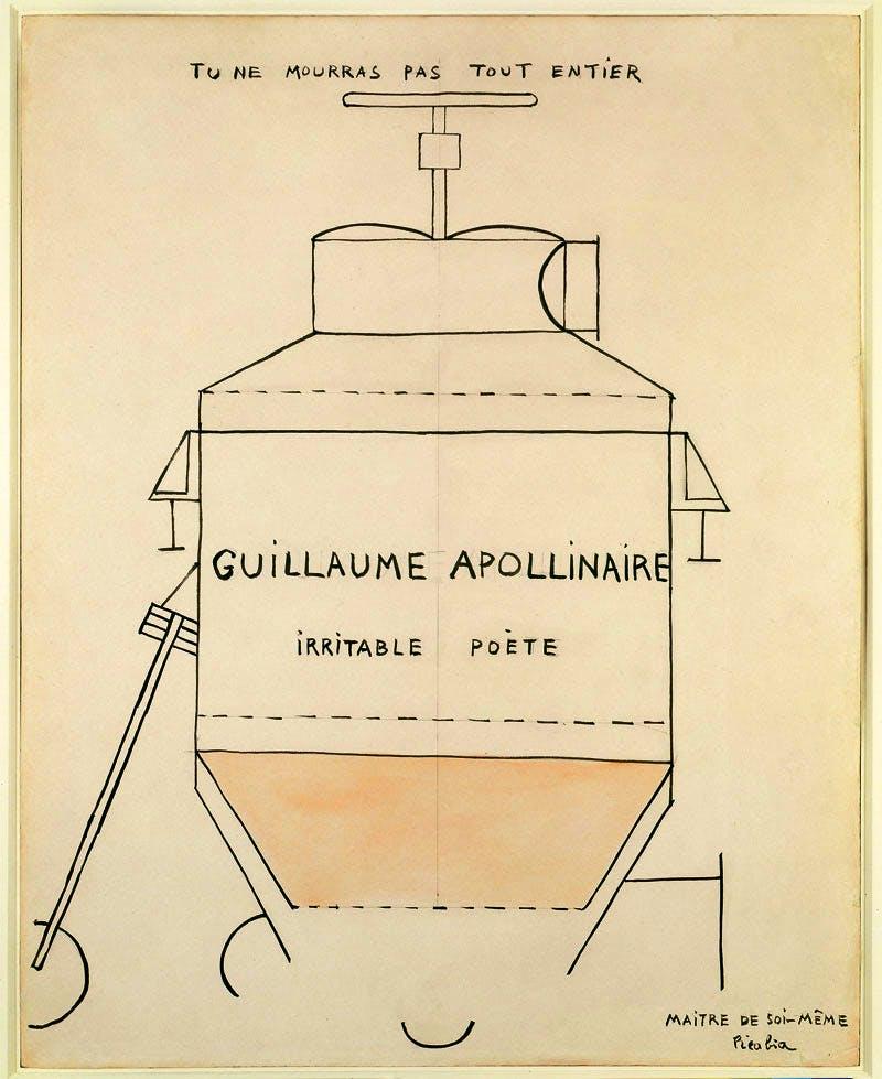 Guillaume Apollinaire (1918), Francis Picabia. Courtesy Kunsthaus Zürich; © ProLitteris 2016