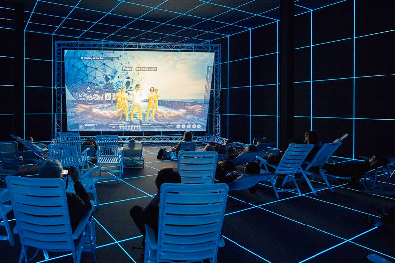 Factory of the Sun (2015), Hito Steyerl. Collection of the artist; courtesy Andrew Kreps Gallery, New York. Photo: Manuel Reinartz; image courtesy the artist and Andrew Kreps Gallery, New York