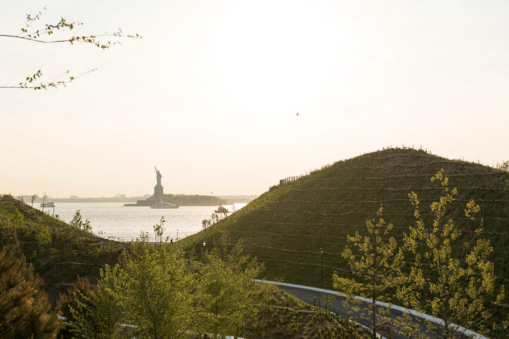 Liberty Monument, from the top of Slide Hill on Governors Island. Photo: Tim Schenck.