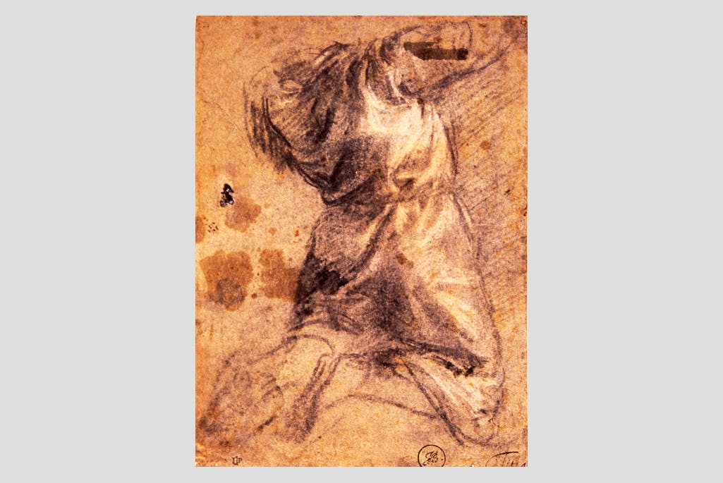 Study of a Kneeling Man (c.1529), Titian.