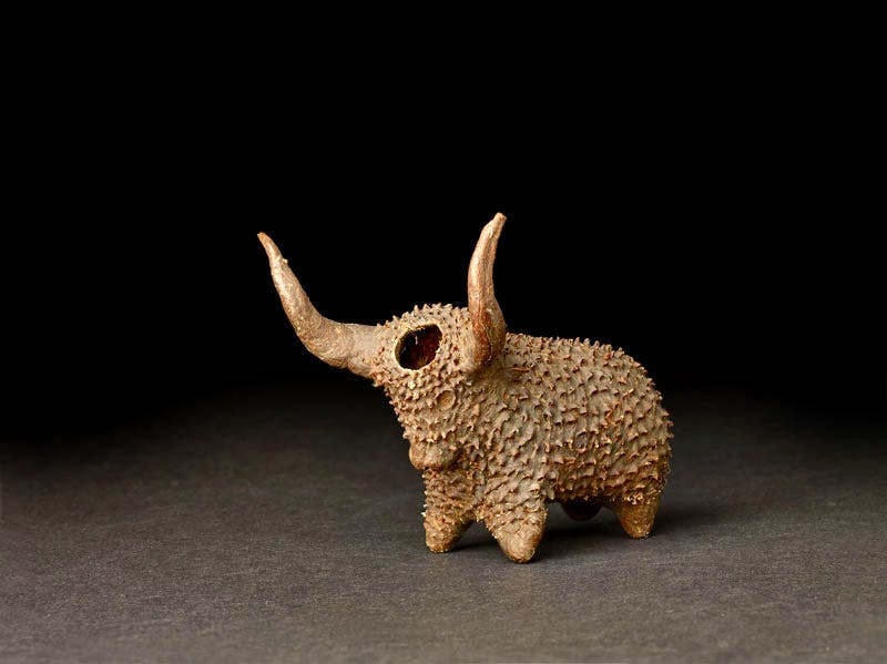 Xhosa Snuffbox in the shape of an ox (late 19th century), South Africa. © The Trustees of the British Museum