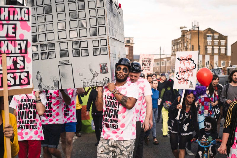 The artists fighting to save Hackney Wick. Photo: Elliot Sheppard