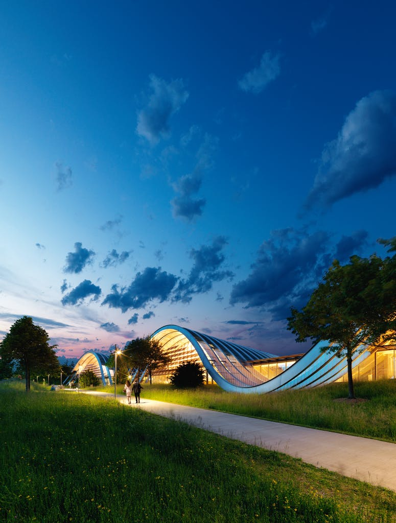 The Zentrum Paul Klee in Bern, designed by Renzo Piano and opened in 2005