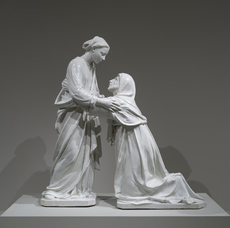 The Visitation (c. 1445), Luca della Robbia. © Museum of Fine Arts, Boston