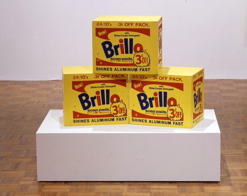 Brillo Box (c. 1964), Andy Warhol. © 2016 The Andy Warhol Foundation for the Visual Arts, Inc./Artists Rights Society (ARS), New York. Photography by Jerry L. Thompson