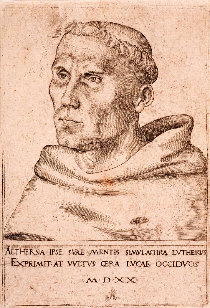 Martin Luther as an Augustinian Monk