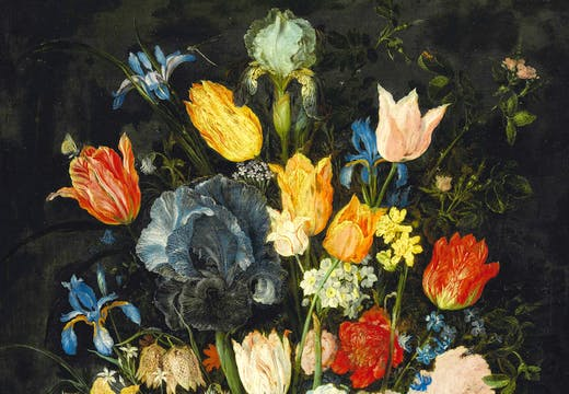 Still Life of Flowers in a Stoneware Vase (c. 1607–08), Jan Brueghel the Elder. Sotheby's London, £3.8m. Apollo Magazine Art Market Review