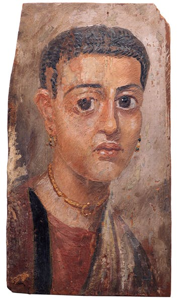 An Egyptian encaustic on wood mummy portrait of a woman (Hadrianic period, 2nd century AD). Christie's New York, estimate $150,000–$250,000