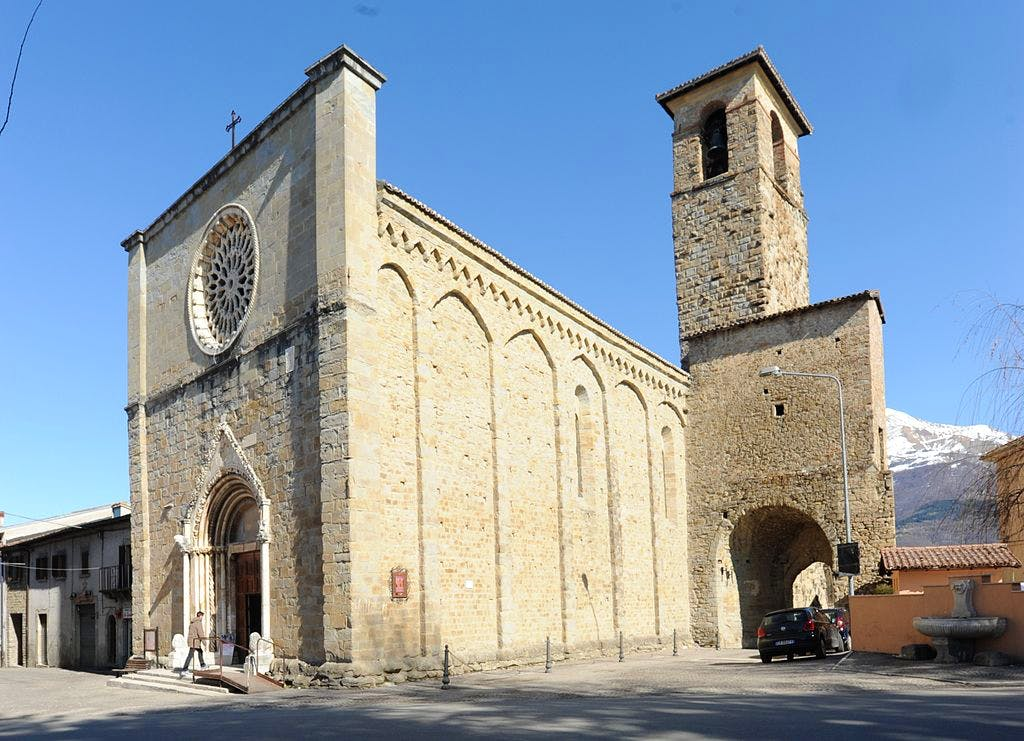 The Church of Sant'Agostino in Amatrice in 2012. Photo: Wikimedia commons