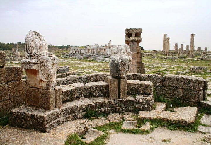 Cyrene in Libya is one of several sites in Libya from which artefacts are allegedly being smuggled