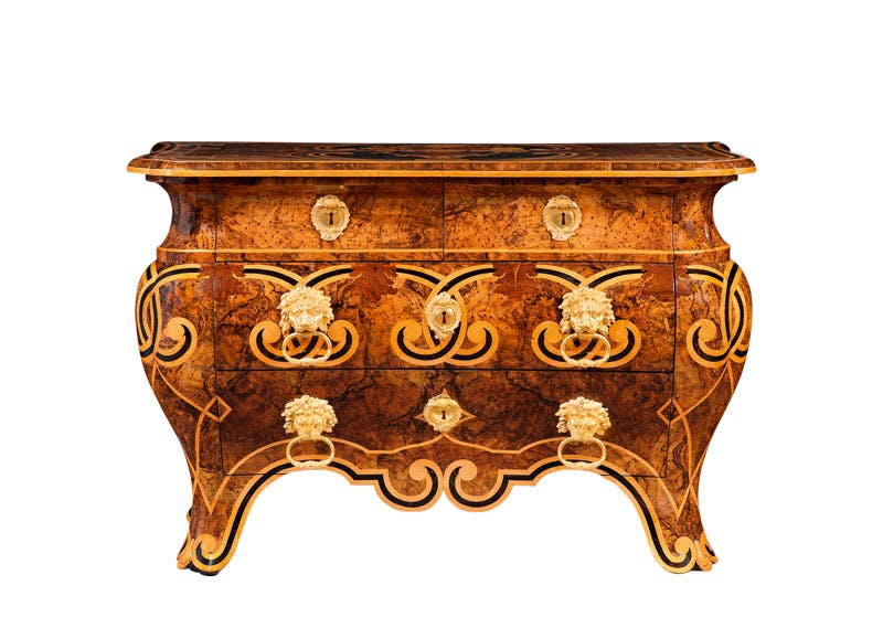 Bombe commode (c. 1760), Pietro Piffetti. Burzio. TEFAF New York Fall