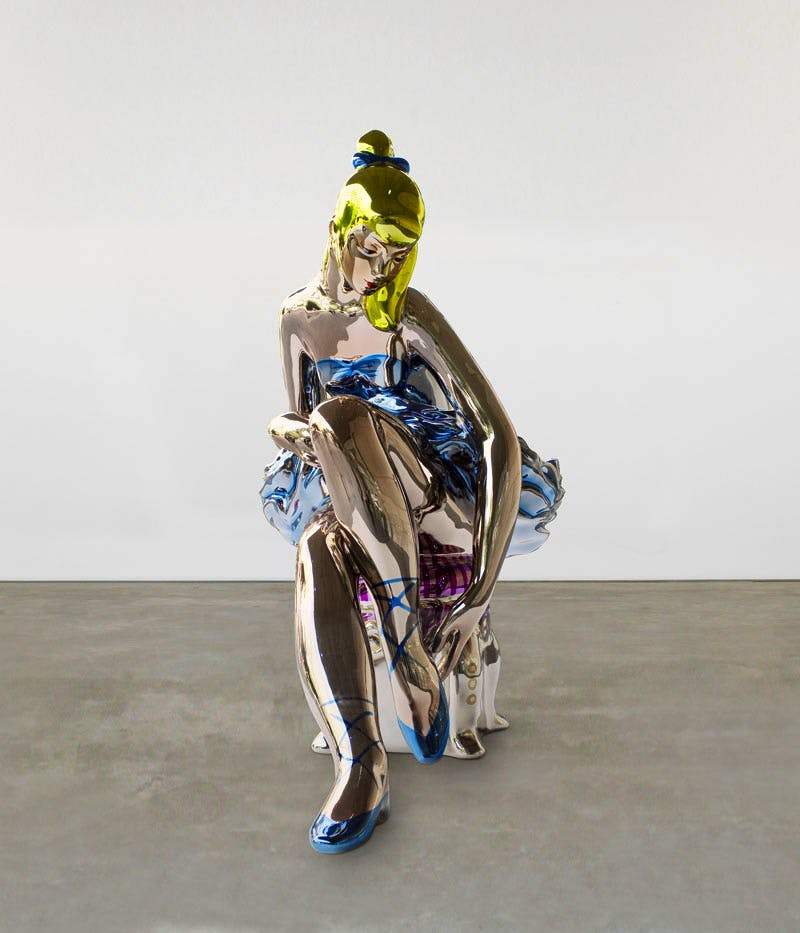 Seated Ballerina (2010–15), Jeff Koons. © Jeff Koons - Courtesy of the artist and Almine Rech Gallery. Photo: Consultatio Real Estate