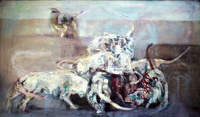 Fighting Dogs (c. 1956–60), Keith Cunningham
