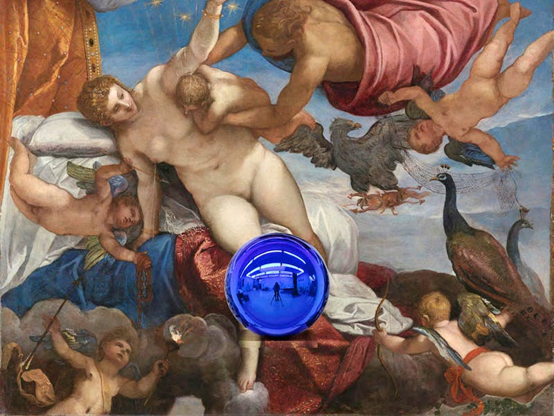 Gazing Ball (Tintoretto The Origin of the Milky Way) (2016), Jeff Koons.