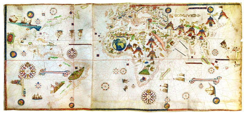 (1531), the first map to show New York harbour.