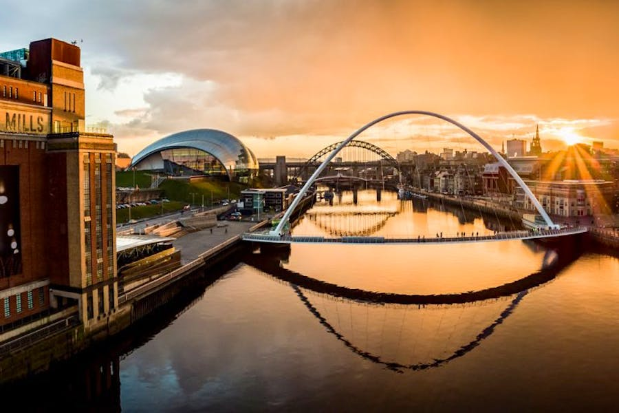 Newcastle and Gateshead Quayside, one of the key sites for the planned 'Great Exhibition of the North'.