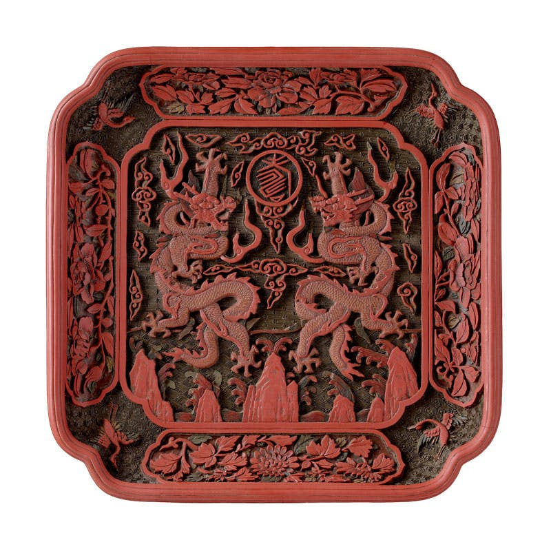 Imperial tray (one of four), Chinese, mark and reign of Qianlong (1736–95). The Royal Collection