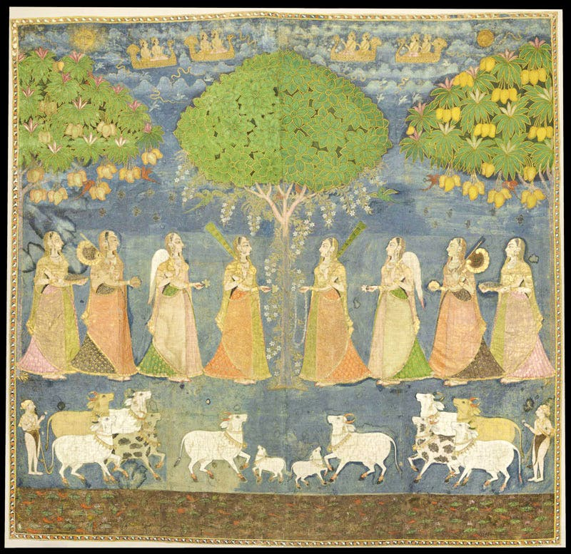 Shrine Hanging with Krishna in Tree Form (Vrikshachari Piccawai) (18th century), Indian, artist unknown.