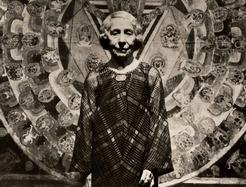 Stella Kramrisch at the Philadelphia Museum of Art's 'Himalayan Art' exhibition (1978).