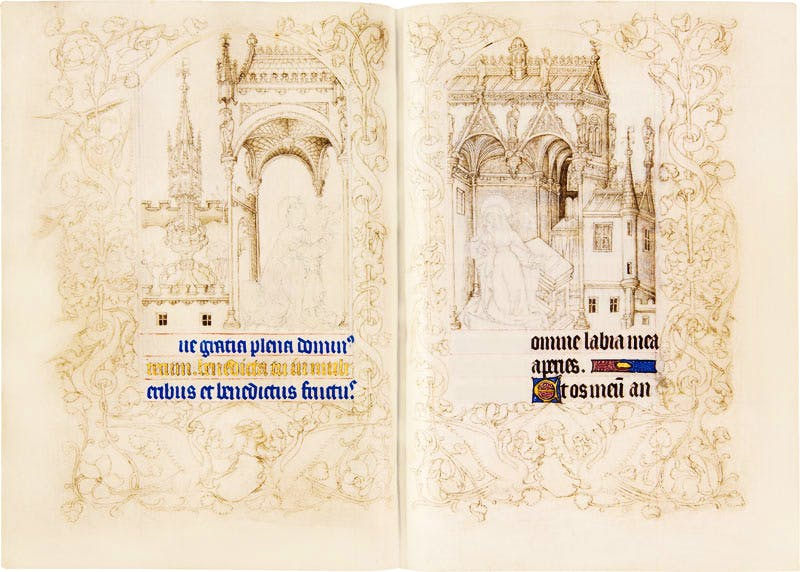 Book of hours for the use of Paris (c. 1407–08), Limbourg brothers, most likely Paul. Heribert Tenschert. TEFAF New York Fall