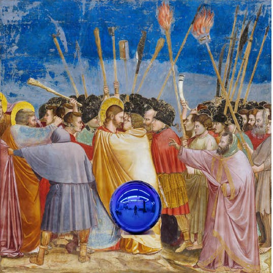 Gazing Ball (Giotto the Kiss of Judas) (2016), Jeff Koons. © Jeff Koons - Courtesy of the artist and Almine Rech Gallery