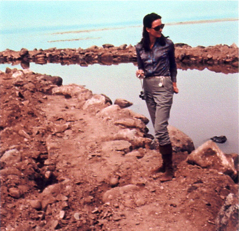 Virginia Dwan at Spiral Jetty (c. 1971: #35 in Chronology), Nancy Holt. Courtesy Holt Archives
