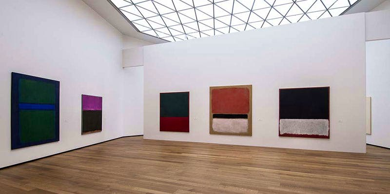 Installation view of a few works from the NGA's collection of Mark Rothko, on view in the East Building, Tower 1 galleries. Photo: Rob Shelley © 2016 Board of Trustees, National Gallery of Art, Washington