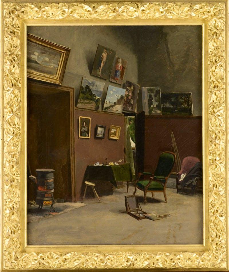Atelier de la rue de Furstenberg (1865–66), Frédéric Bazille. Montpellier, Musée Fabre, Montpellier Méditerranée Métropole © Cliché Frédéric Jaulmes