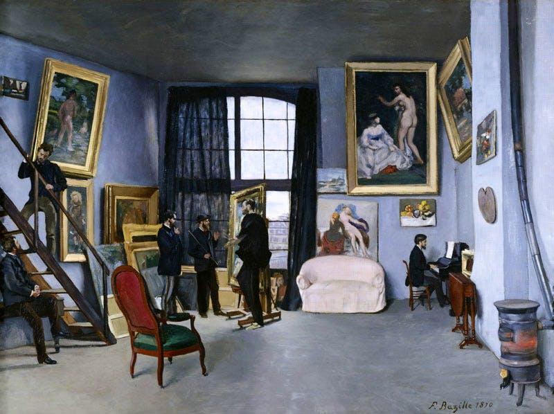 L'Atelier de la rue La Condamine (1869-70), Frédéric Bazille. © Photo musée d'Orsay, Dist. RMN-Grand Palais / Patrice Schmidt