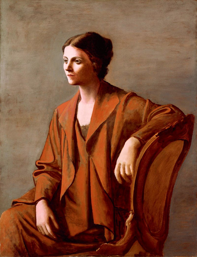 Portrait of Olga Picasso (1923), Pablo Picasso. Private collection. © Succession Picasso/DACS London, 2016