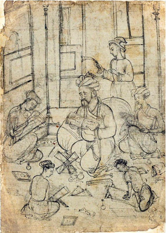 A Maulavi and his Pupils (c. 1640–50), India, Himachal Pradesh, Chamba