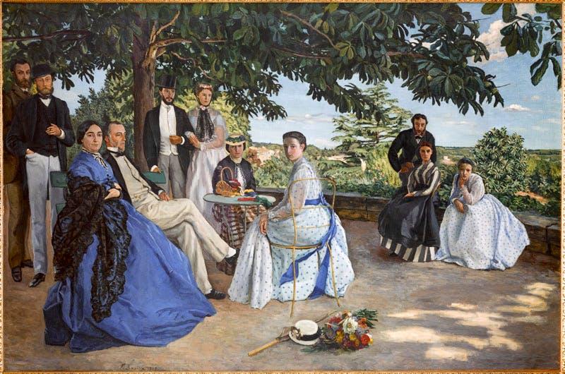 La Réunion de famille (1867), Frédéric Bazille. © Photo musée d'Orsay, Dist. RMN-Grand Palais / Patrice Schmidt