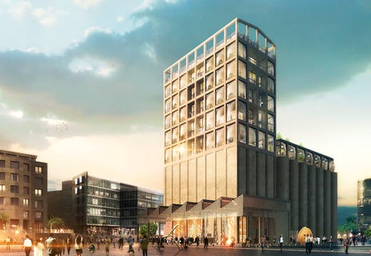 Rendering of the Zeitz Museum of Contemporary African Art (Zeitz MOCAA), Cape Town, which is scheduled to open in September 2017. Courtesy Heatherwick Studio