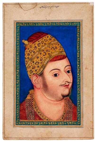 Portrait miniature of Sultan Ibrahim Adil Shah II of Bijapur (c. 1590), India, Deccan, Bijapur. David Collection, Copenhagen