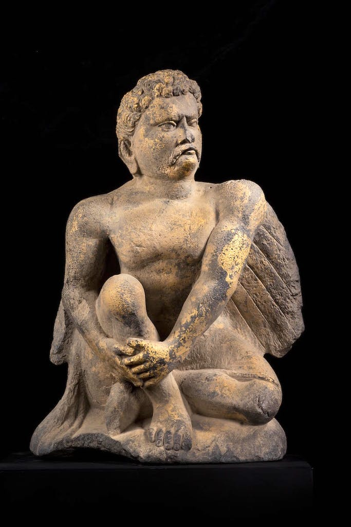 Figure of Atlas (2nd–3rd century), Gandhara.