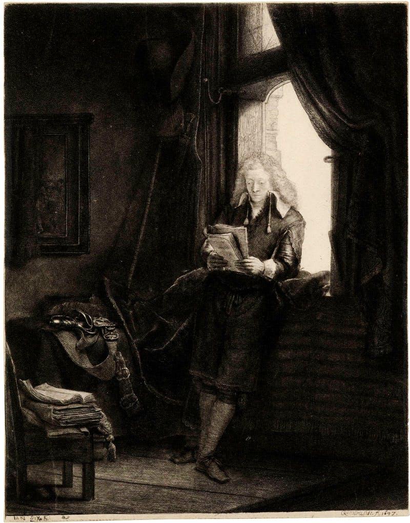 Portrait of Jan Six (1647), Rembrandt van Rijn