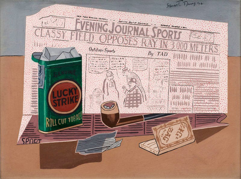 Lucky Strike (1924), Stuart Davis. Hirshhorn Museum and Sculpture Garden, Smithsonian Institution, Washington. Art © Estate of Stuart Davis/Licensed by VAGA, New York, NY