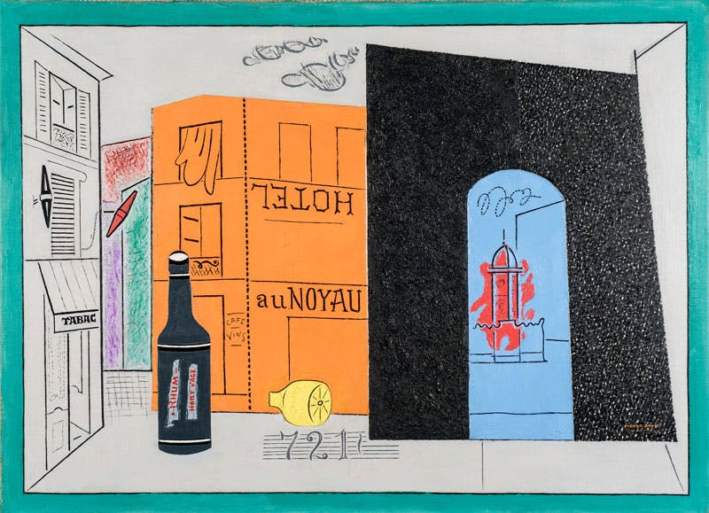 Arch Hotel (1929), Stuart Davis. Sheldon Museum of Art, University of Nebraska-Lincoln, Anna R. and Frank M. Hall Charitable Trust. Art © Estate of Stuart Davis/Licensed by VAGA, New York, NY. . Photo (C) Sheldon Museum of Art